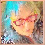 RedGlassesBlueHairOrangeBorder